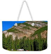 Mountains West Of Kicking Horse Campground In Yoho Np-bc Weekender Tote Bag