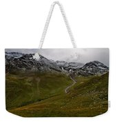 Mountainscape With Snow Weekender Tote Bag