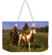 Mounted Indians Carrying Spears Weekender Tote Bag
