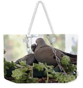 Mourning Dove Feeding Baby Dove Weekender Tote Bag