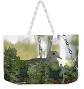 Mourning Dove Nesting Weekender Tote Bag