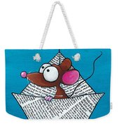 Mouse In His Paper Boat Weekender Tote Bag