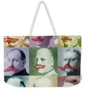 Moustaches Weekender Tote Bag by Tony Rubino