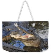 Mouth In The Middle Weekender Tote Bag