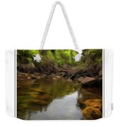 Mouth Of The Brook - Calm - Shallow Water Weekender Tote Bag