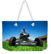 Mowing The Lawn Weekender Tote Bag
