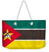 Mozambique Flag Vintage Distressed Finish Weekender Tote Bag