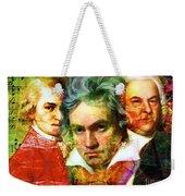Mozart Beethoven Bach 20140128 Weekender Tote Bag