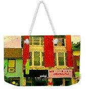 Mr Jordan Mediterranean Food Cafe Cabbagetown Restaurants Toronto Street Scene Paintings C Spandau Weekender Tote Bag
