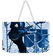 Mrdog #63 Enhanced In Blue Weekender Tote Bag