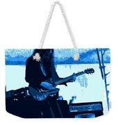 Mrdog #71 Enhanced In Blue Weekender Tote Bag