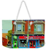 Mrs Tiggy Winkle's Toy Shop And Lost Marbles Richmond Rd The Glebe Paintings Ottawa Scenes C Spandau Weekender Tote Bag