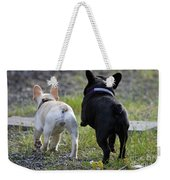 Ms. Quiggly And Buddy French Bulldogs Weekender Tote Bag