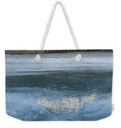 Mt. Abraham And Ice On Abraham Lake Weekender Tote Bag