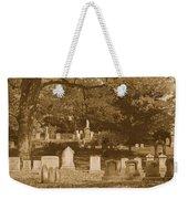 Mt Auburn Cemetery 13 Sepia Weekender Tote Bag