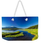 Mt. Bachelor Reflection And Forest Weekender Tote Bag