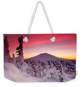 Mt. Bachelor Winter Twilight Weekender Tote Bag