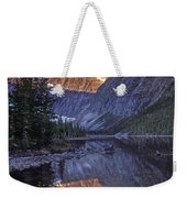 Mt Edith Cavell Reflection Weekender Tote Bag