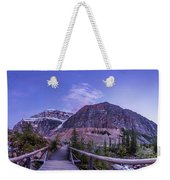 Mt. Edith Cavell Trail At Twilight Weekender Tote Bag