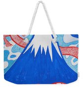 Mt. Fuji And A Red Dragon Weekender Tote Bag