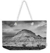 Mt. Garfield - Black And White Weekender Tote Bag