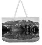 Mt Katahdin Black And White Weekender Tote Bag