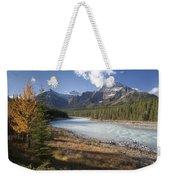 Mt Kerkeslin And Athabaska River Jasper Weekender Tote Bag