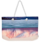 Mt Laurier Mirrored On Lake Laberge Yukon Canada Weekender Tote Bag
