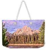 Mt Moran From Colter Bay Weekender Tote Bag