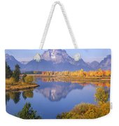 1m9234-mt. Moran Reflection, Wy Weekender Tote Bag