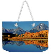 Mt. Moran Reflection Weekender Tote Bag