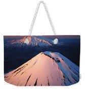 Mt Ngauruhoe And Mt Ruapehu Weekender Tote Bag