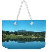 Mt Prevost Over Quamichan Lake Weekender Tote Bag