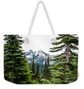 Mt. Rainier Framed Weekender Tote Bag