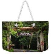Mt Rainier Gateway Weekender Tote Bag