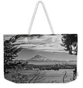 Mt. Rainier Over The Port Of Tacoma Weekender Tote Bag