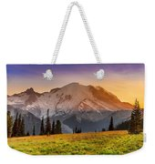 Mt. Rainier Sunset 2 Weekender Tote Bag