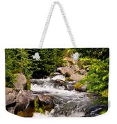 Mt. Rainier Waterfall Weekender Tote Bag