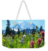 Mt. Rainier Wildflowers Weekender Tote Bag