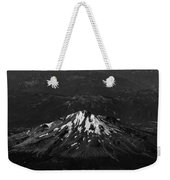 Mt Shasta Black And White Weekender Tote Bag