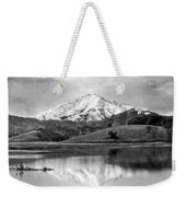 Mt. Tamalpais In Snow Weekender Tote Bag