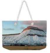 Mt.garfield Winter Weekender Tote Bag
