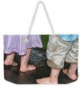 Mud Puddles Weekender Tote Bag