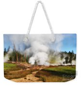 Mud Volcano And Sulphur Caldron  Weekender Tote Bag