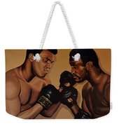 Muhammad Ali And Joe Frazier Weekender Tote Bag