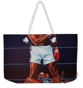 Muhammad Ali Versus Sonny Liston Weekender Tote Bag