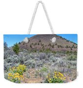 Mule's Ears And Schonchin Butte In Lava Beds Nmon-ca Weekender Tote Bag