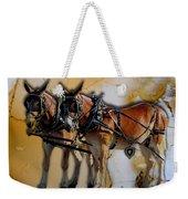 Mules In Full Dress Weekender Tote Bag