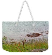 Mulholland Point Lighthouse On  Campobello Island-nb Weekender Tote Bag