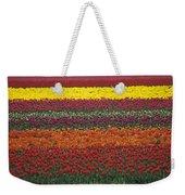 Mult-colored Tulip Field Weekender Tote Bag